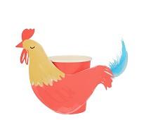 Pappkopper, hane, 8 stk - Meri Meri