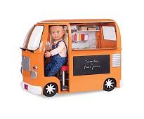 Foodtruck bil, dukketilbehør - Our Generation