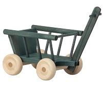 Petrolfarget vogn, 5 cm, dukkehustilbehør - Maileg