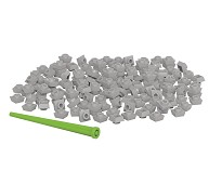 Pixelperler 150 stk, grå - BiOBUDDi
