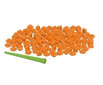 Pixelperler 150 stk, oransje - BiOBUDDi