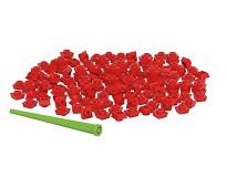Pixelperler 150 stk, rød - BiOBUDDi