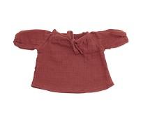 Rød bluse, dukkeklær 38-41cm - By Astrup