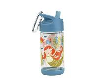 Blå drikkeflaske med havfruer - Sugarbooger