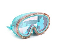 Svømmebriller med diamanter og havfrue
