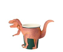 Pappkopper, dinosaur, 8 stk - Meri Meri