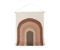 Veggteppe med rosa regnbue - OYOY