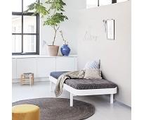 Wood dagseng 90 cm, hvit