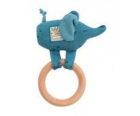 Rangle med trering og blå elefant - Moulin Roty