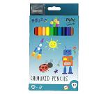 12 fargeblyanter med blyantspisser