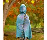 Blå dragekappe, 5-6 år, kostyme