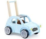 Gåvogn i tre, blå Citroen 2CV bil
