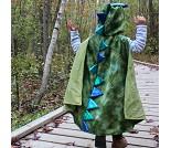 Dragekappe med klør, 4-6 år, kostyme