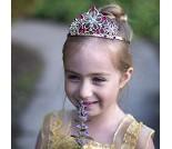 Gullfarget tiara med diamanter, kostymetilbehør