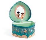Smykkeskrin med ballerina, hjerte - Djeco