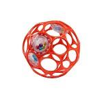 Oball babyball med rangle, rød