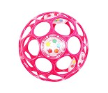 Oball babyball med rangle, rosa