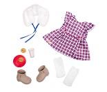Rutete kjole, dukkeklær - Our Generation