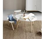 Barnebord i eik med hvit topp, Oliver Furniture