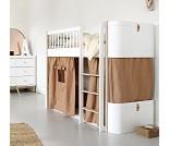 Wood Mini+ hvit/ eik lav høyseng, Oliver Furniture