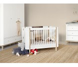 Hvit/eik barneseng Mini+, Oliver Furniture