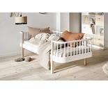 Wood hvit / eik sofaseng fra Oliver Furniture