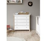 Hvit kommode med eikeben, Oliver Furniture Wood