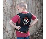 Piratvest og øyelapp, 4-7 år, kostymetilbehør
