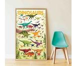 Plakat og klistremerker, dinosaurer - Poppik