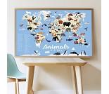 Plakat og klistremerker, verdens dyr - Poppik