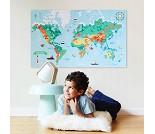 Plakat og klistremerker, verdenskart - Poppik