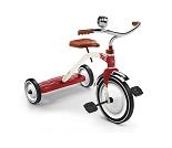 Rød trehjulssykkel - Baghera