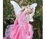 Rosa sommerfuglvinger med glitter