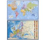 Skriveunderlag med kart - 2 valg