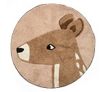 Vevet gulvteppe med hjort, Twilight - Sebra