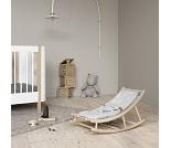 Vippestol til baby og junior, eik/grå, Wood