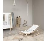 Vippestol til baby og junior, eik/hvit, Wood