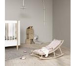 Vippestol til baby og junior, eik/rosa, Wood