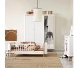 Wood hvit/eik junior sofaseng fra Oliver Furniture