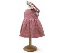 Kjole og hårbånd, dukkeklær, 33-37cm