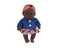 Jentedukke med klær, 21 cm - Miniland