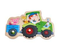 Puslespill med knotter, traktor - Haba