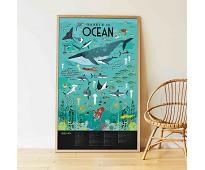 Plakat og klistremerker, havet - Poppik