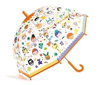 Paraply med magisk effekt, ansikter - Djeco