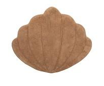 Gulvteppe i økologisk bomull,brunt skjell, 66x75cm