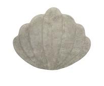 Gulvteppe i økologisk bomull,grått skjell, 66x75cm