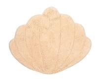 Gulvteppe i økologisk bomull, sand skjell, 66x75cm