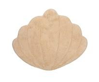 Gulvteppe i økologisk bomull,sand skjell, 96x110cm
