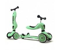 Lysegrønn sparke- og sittesykkel - Scoot & Ride