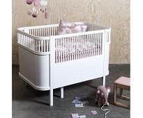 Hvit seng til baby og junior, Sebrasengen - Sebra